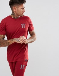 11 Degrees Muscle T Shirt In Red