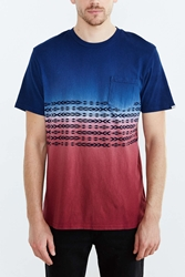 Vans Dip Dye Chest Pattern Crew Neck Tee Blue
