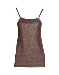 Scaglione Topwear Vests Women Dark Brown
