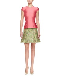 Zac Posen Structured Satin T Shirt Coral