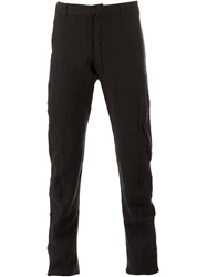 Individual Sentiments Slim Fit Crease Effect Trouser Black