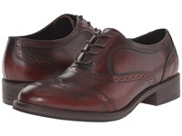Wolverine Elsie Oxford Dark Red Leather Women's Lace Up Casual Shoes