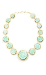 Irene Neuwirth Flower Carved Opal Necklace Green