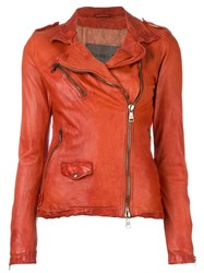 Giorgio Brato Biker Jacket Yellow Orange