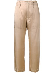 Jejia Camille Cropped Trousers Neutrals