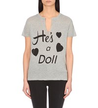Wildfox Couture He's A Doll Cotton Blend T Shirt Vintage Lace