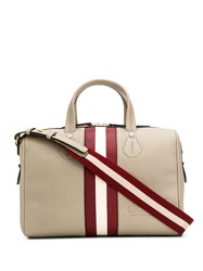 Bally Shawn Striped Tote Neutrals