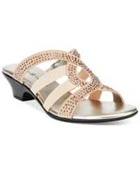 Karen Scott Emet2 Embellished Sandals Only At Macy's Women's Shoes Gold Rhinestone