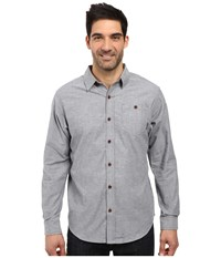 Columbia Boulder Ridge Long Sleeve Shirt Graphite Men's Long Sleeve Button Up Gray