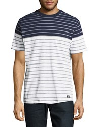 Bench Colorblocked Striped Tee Total Eclipse
