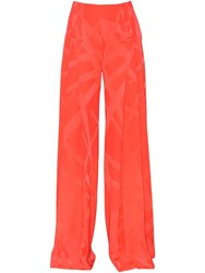 Capucci Printed Stretch Cady Flared Pants