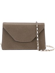 Valextra Mini 'Iside Chain' Crossbody Bag Brown
