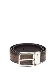 Berluti Scritto Reversible Leather Belt Black Brown