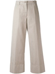 Aspesi Cropped Trousers Nude Neutrals