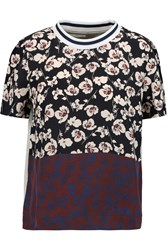 Mother Of Pearl Thane Printed Silk And Cotton Jersey T Shirt Purple