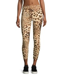 Norma Kamali Cropped Leopard Print Leggings Multicolor Pattern Multi Pattern