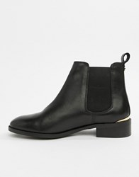 Office Bramble Black Leather Chelsea Boots Black Leather