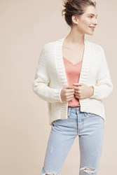 Anthropologie Classic High Low Cardigan Ivory