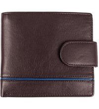 Dents Rfid Protection Leather Wallet Chocolate Royal Blue