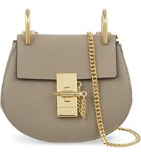 Chloe Drew Nano Saddle Cross Body Bag Motty Grey