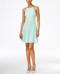 Bar Iii Printed Sleeveless Fit And Flare Dress Only At Macy's Bright Green