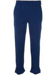Msgm Ankle Length Pants Blue