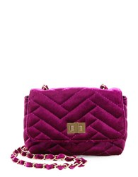 Steve Madden Chant Velvet Crossbody Bag Berry