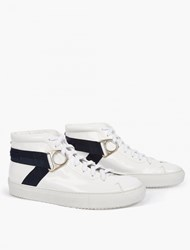 Oamc White Leather Airborne Sneakers