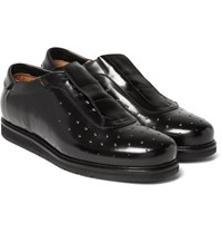 Mccaffrey Perforated Leather Shoes Black