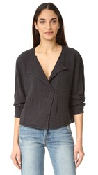 Raquel Allegra Boxy Day Blouse Black
