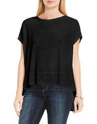 Vince Camuto Mix Media Solid Tee Black