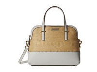 Kate Spade Cedar Street Straw Maise Natural Bright White Handbags Khaki