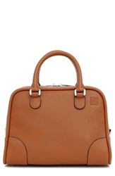 Loewe 'Small Amazona 75' Leather Satchel Beige Tan