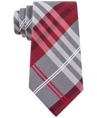Geoffrey Beene Petros Plaid Ii Tie Red