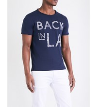 Replay Back In La Cotton Jersey T Shirt Ink Blue