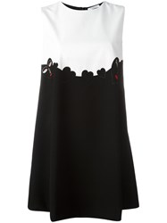 Vivetta Embroidered Yolk Dress Black