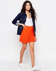Never Fully Dressed Quilted Mini Skirt Orange