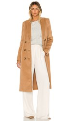 C Meo Collective Low Key Coat In Brown. Camel