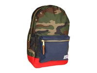 Herschel Settlement Woodland Camo Navy Red Backpack Bags Multi