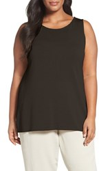 Eileen Fisher Plus Size Women's Sleek Tencel Knit Tank Surplus