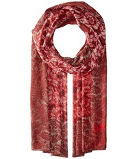 Michael Michael Kors Belle Epoque Hamilton Oblong Red Blaze Scarves
