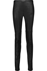 Proenza Schouler Leather Skinny Leg Pants Black