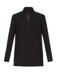 Christophe Lemaire Double Breasted Virgin Wool Jacket Black