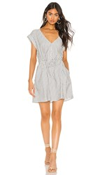Sanctuary Sundrenched Soft Shirt Dress In White. Timeless Stripe