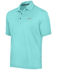 Greg Norman For Tasso Elba Big And Tall 5 Iron Performance Golf Polo Aqua Blast
