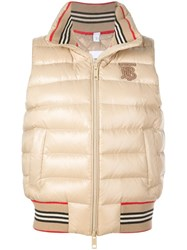 Burberry Padded Gilet Neutrals