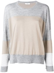 Peserico Colour Block Sweater Grey