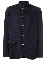 Brunello Cucinelli Flap Pocket Jacket Blue