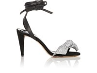 Isabel Marant Women's Akynn Suede And Leather Sandals Black Silver