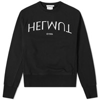 Helmut Lang Logo Hack Crew Sweat Black